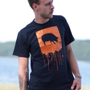 T-Shirt Dripping Pig Navy