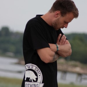 T-Shirt Geil wie Sau Brand Schwarz