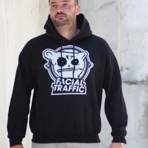Hoodie Facial Traffic Logo Schwarz