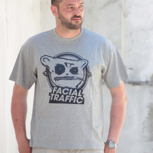 T-Shirt Facial Traffic Logo Heather Grey