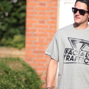 T-Shirt Facial Traffic Schriftzug Heather Grey